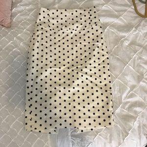 EXPRESS polka dot pencil skirt